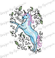 Unicorn cutting file www.cyncopia.com