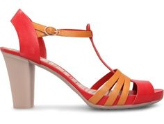 Sensible mid-heel sandals! Your mother would approve of these!