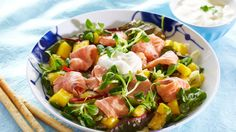 Oppskrift på salat med ceviche og koriander