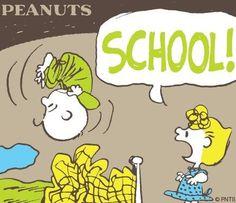 "Sally Brown Screaming ""SCHOOL!"", to Wake Up Poor Charlie Brown. (It Felt Like my Mom did This Too)."