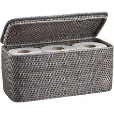 Loving this small basket for my small bathroom! edonaLidRecToteGryAVF13