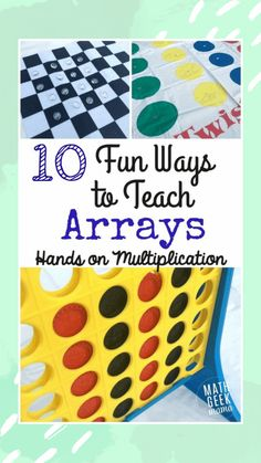 10 Fun Ways To Teach Arrays – Hands-On Multiplication An array is a useful and powerful visual to teaching multiplication. In this post, learn tons of hands on ways to teach arrays to make multiplication fun! Maths 3e, Learning Multiplication, Teaching Math, Multiplication Strategies, Math Fractions, Math Strategies, Comprehension Strategies, Reading Comprehension, Easy Math Games