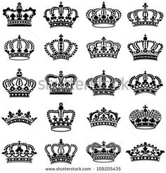 Vector crown creative silhouettes set Free vector in Encapsulated PostScript eps ( .eps ) vector illustration graphic art design format format for free download 347.34KB