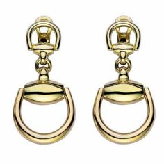 Gold Gucci Dangle Earrings | Year of the Horse | JR Dunn Jewelers | #Jewelry