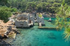 Cleopatra's Baths in Hamam Bay, Dalaman in Turkey. This place was super cool. Would love to go back one day.