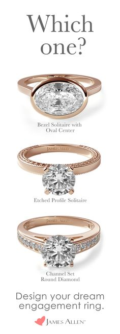 James Allen has hundreds of stunning rose gold engagement ring styles. With 100,000+ loose diamonds in 360° HD, designing your own engagement ring has never been easier!