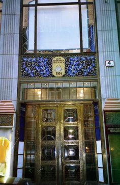 Decorative Doorway Entry, Vienna, Austria by David, via Flickr