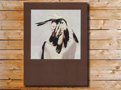 Native American Portrait Kirby Sattler Ghost by KirbySattlerPrints