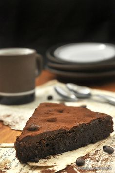 Swedish sticky chocolate cake that's rich, dense, fudgy and utterly delicious! (in Greek with translator)