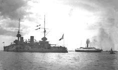 S.S.Nomadic during WWI, ferrying servicemen from Cherbourg,France to the French warship Bouvet.