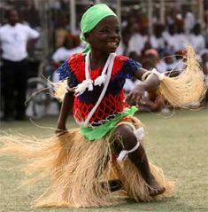 A child performs during a celebration in Monrovia, Liberia