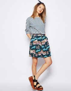 NW3 Country Skirt in Japanese Kimono Print
