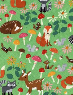 Let's Get Nutty Woodland Animals C3666 by SewPerfectlyVintage