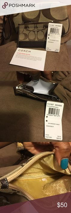 Coach clutch and ID holder Never used Coach clutch and ID holder Coach Other