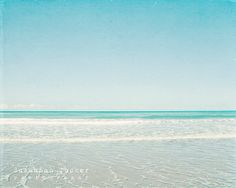 Beach photography blue teal turquoise aqua waves por SusannahTucker