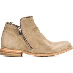 Officine Creative zip trim ankle boots (88895 RSD) ❤ liked on Polyvore
