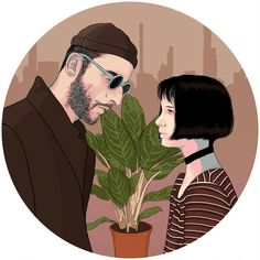 47 Mathilda and Leon Illustration Ideas - Art Professional Wallpaper, Professional Poster, Leon The Professional Quotes, Leon The Professional Mathilda, Leon Matilda, Mathilda Lando, Dibujos Cute, Cult Movies, Films
