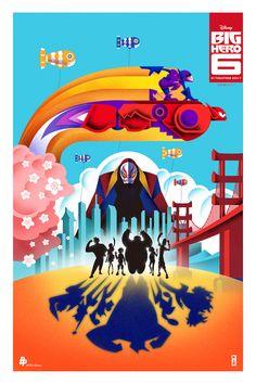 Official BIG HERO 6 NYCC Poster by Kaz Oomori — GeekTyrant