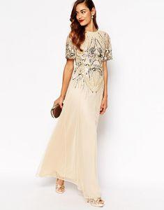 Art Deco Bridesmaid Dresses - Embellished Maxi Dress