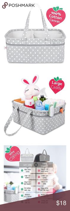Baby diaper caddy organizer Baby Diaper Caddy Organizer Nursery Basket | Cotton