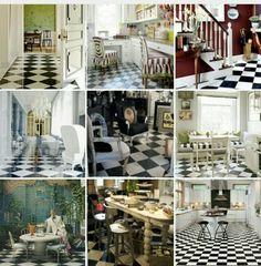 My checkerboard English Grandma's and Alice memories