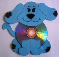 Recycled CD crafts ideas for kids - Art Craft Ideas Cd Diy, Diy Crafts With Cds, Kids Crafts, Recycled Cd Crafts, Old Cd Crafts, Arts And Crafts, Recycled Glass, Summer Camp Crafts, Camping Crafts