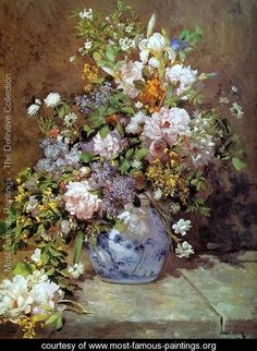 Spring Bouquet - Pierre Auguste Renoir - www.most-famous-paintings.org