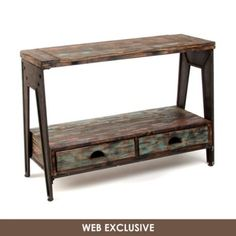 Rustic Work Horse Console Table | Kirkland's