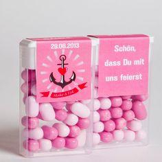 Tic Tac Etiketten mit eigenem Hochzeitslogo Tic Tac labels with your own logo watsonLABEL Germany