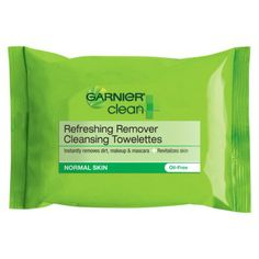 Clean+ Refreshing Remover Cleansing Towelettes by Garnier SkinActive. Makeup remover wipes, to remove oil, impurities and makeup for healthy looking skin. Makeup Remover Wipes, Acne Free, Normal Skin, Oils For Skin, Perfect Skin, Face Cleanser, Skin Care, Face Care, Pure Products