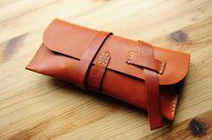 Leather pencil case leather pencil roll leather pen case