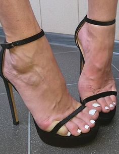 Image may contain: shoes Black Strappy High Heels, Thigh High Heels, Sexy Legs And Heels, Hot High Heels, Pretty Sandals, Sexy Sandals, Brian Atwood Shoes, Beautiful High Heels, Women's Feet