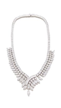 Kenneth Jay Lane Gatsby Marquis Baguette Necklace? $698