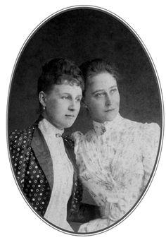 Grand Duchess Elizabeth Feodorovna (Ella of Hesse) with Marie of Greece.