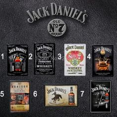 Vintage Jack Daniel's metal Tin Sign Bar Sofa Home Retro Metal paintings wall decoration 20*30 CM Free shipping