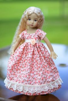 """SOLD Regency Dress, Outfit, Clothes for 13"""" Dianna Effner Little Darling #LuminariaDesigns"""