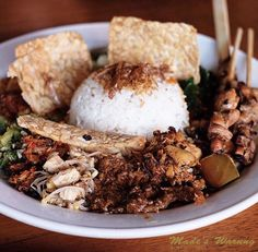 For breakfast lunch and dinner   by @bennyjurdi  Call (0361) 732 130 to make a booking today or visit www.madeswarung.com  #madeswarung  __________________________________________  #spices #shops #foodies #lunch #food #wheninbali #nasicampur #buzzfeast #cuisine #foodiegram #indonesiancuisine #asiancuisine #delicious #kulinerbali #balibagus #bali #history #culture #culinary #herbs #cooking