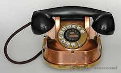 I have one of these from Belgium. Vintage Phones, Vintage Telephone, Antique Phone, Ring My Bell, Call Me Maybe, Home Phone, Bees Knees, Landline Phone, Belgium