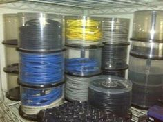 reciclaje caja redonda de CDs