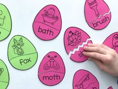 Free Egg Puzzle Word Work Activity using Astrobrights Yardstick by A Differentiated Kindergarten