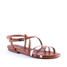 3a33f849fab1 FI104 TAB Marron Or métal chaussures plates pour femme fi104 tab de la  marque porronet en