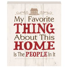 Prinz 'My Favorite Thing About This Home Is the People In It' Wood Box Plaque >>> Click image to review more details. (This is an affiliate link) #DecorativeAccessories