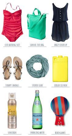 Summer Essentials: A Day At The Beach