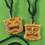 "tiki necklaces (""Immunity Idols"") I found on Oriental Trading"