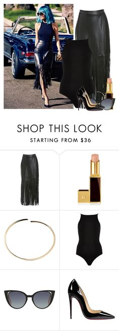 """The Nicole Richie"" by renee-bu ❤ liked on Polyvore featuring Nightwalker, Tom Ford, Maison Margiela, Fendi and Christian Louboutin"