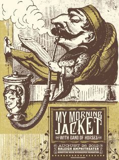 Image of My Morning Jacket - Raleigh - by Justin Helton of Status Serigraph