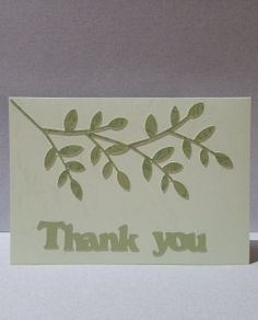 Thank you card with cut-out branch. Custom color to your specification.