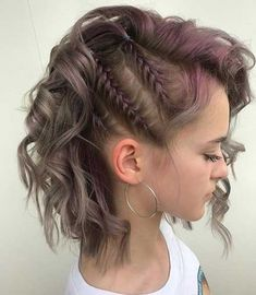 40 Braids for Short Hair to Make Your . hair braids 40 Braids for Short Hair to Make Your Day Exciting Braids With Curls, Braids For Short Hair, Cute Hairstyles For Short Hair, Crown Braids, Braids On The Side, Half Braided Hair, Short Hair Braids Tutorial, Pixie Braids, Wedding Hairstyles