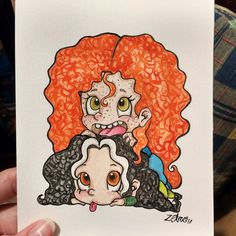 A potrait for my bff. DM for commissions♥ More on my instagram page:https://www.instagram.com/Always_Zeta/ ...................................................................... #potrait #drawing #art #illustration #draw #design #doodle #redhead #brave #disney #merida #princess #chibi #pose #posture #baby #girl #cute #hair #watercolor #sketch #frekles #artist #arte #dibujo #regalo #bff #gift #present #best #friend #dibujo #ilustracion #retrato #acuarela #diy #goals