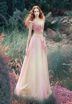 Unique gown Fantasy by Andrey Yakovlev Lili Aleeva, via Behance #dress, #gown